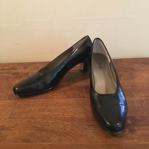 Ros Hommerson Black Leather Heels